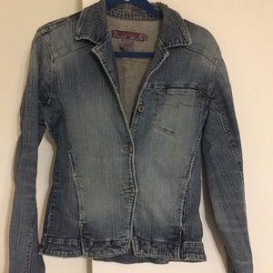 Silver brand denim jacket. Medium